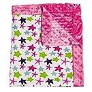 Mermaid Kingdom Patterned Minky Dot Blanket