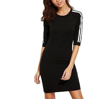 TOPHenry NEW nova moda das mulheres vestidos de verão curto preto das senhoras em torno do