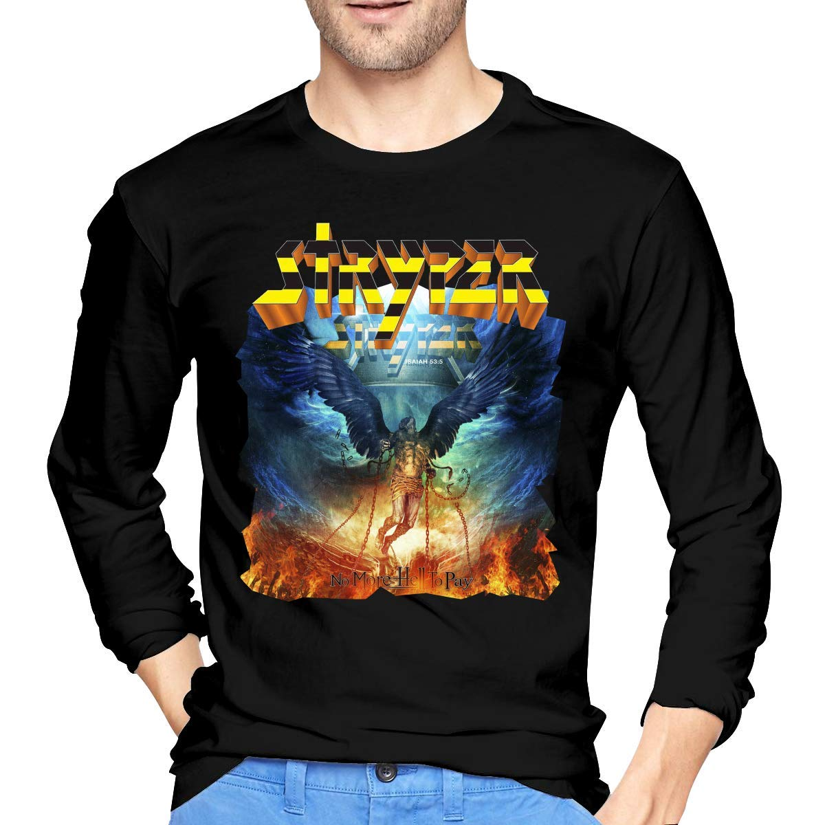 Fssatung S Stryper No More Hell To Pay Tee Black Shirts