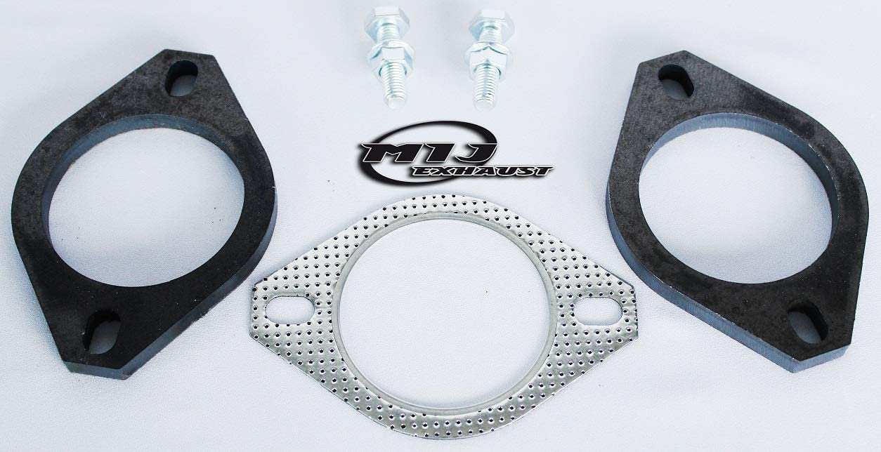 Exhaust Gasket And Flange Set 2 Bolt Hole Mild Steel Pair Of 2.25//57mm Flanges Including Gasket