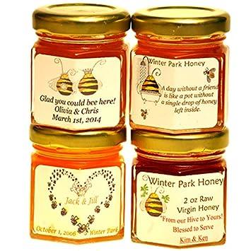 Honey Wedding Favors.Wedding Honey Favors Case Of 24 X 2oz Jars Pure Raw Honey