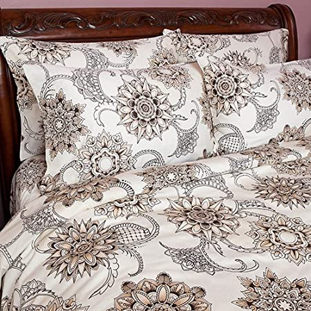 Henna Tattoo Duvet Covers Full Queen Amazon Co Uk Kitchen Home