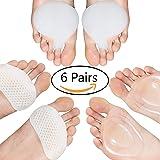 Metatarsal Almohadillas de bola de pies para mujeres y hombres – Plantillas de metatarsalgia de silicona suave para el cuidado de los pies de los talones, alivio del dolor de pies (6 piezas)