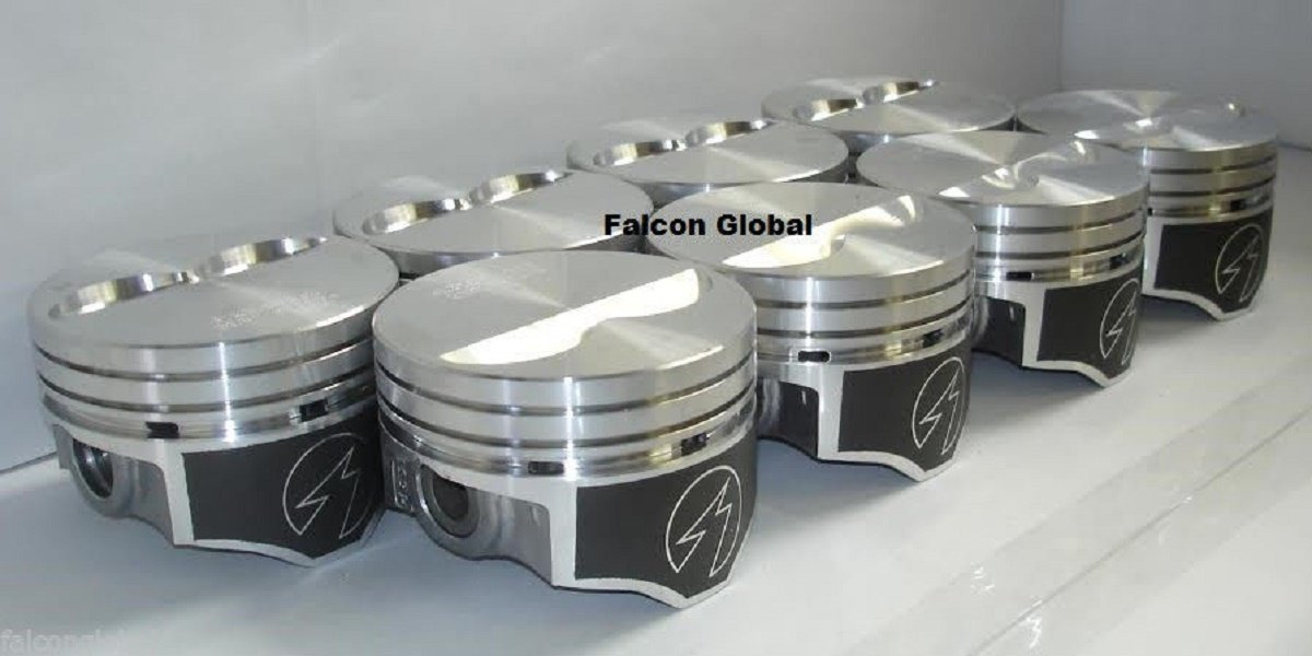 Speed Pro Flat Top Piston H631CP40 .040 Over For 350ci Small Block Chevy