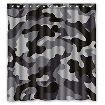 Amazon.com: RELAX Black Gray White Camo Camouflage Army Waterproof ...