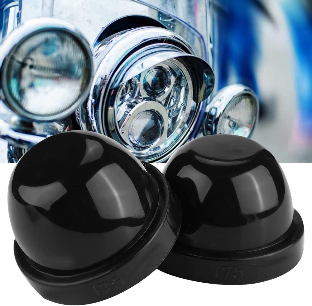 LED Faro Protezione antipolvere Custodia in gomma Tappi di copertura Nero KIMISS 2Pcs 75mm Cappucci di tenuta faro
