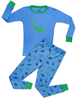 Leveret Kids & Toddler Pajamas Owl Boys Girls 2 Piece Pjs Set 100% Cotton Sleepwear