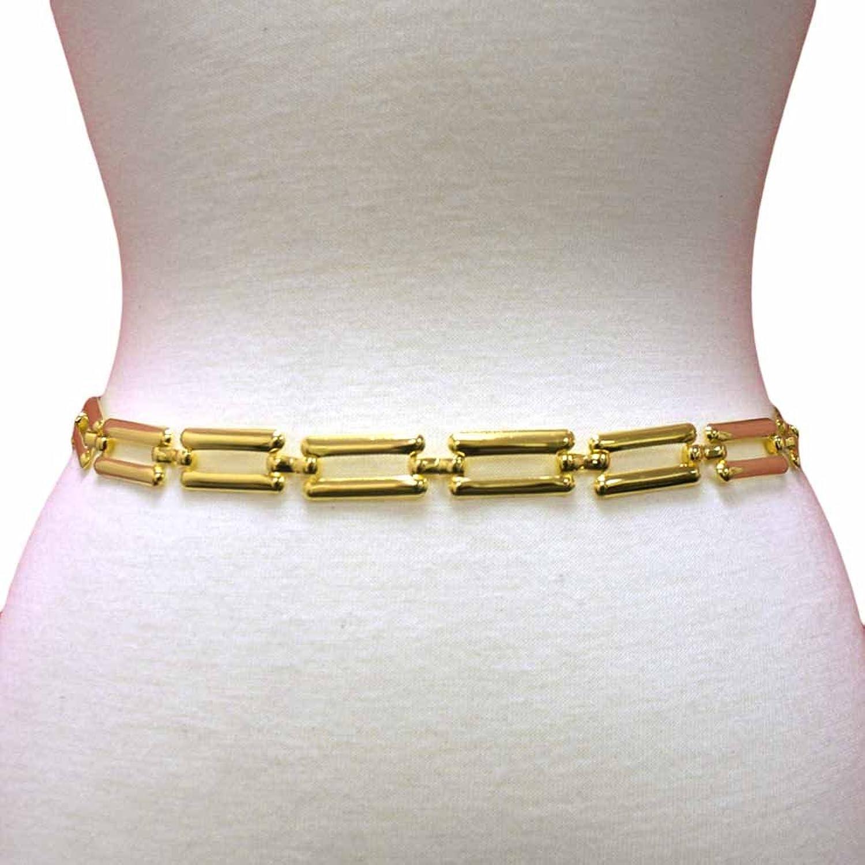 Luxury Divas Oblong Rectangular Chain Linked Belt