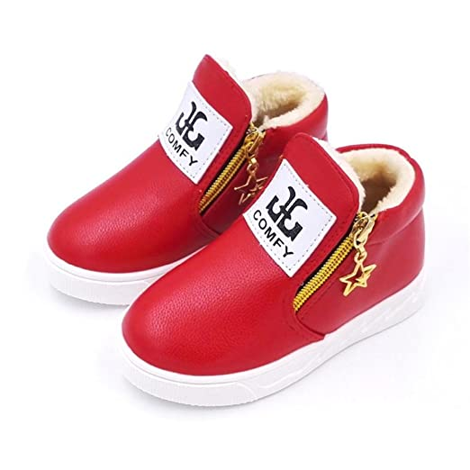 a677a392f6b60 Amazon.com: Esharing Sport Shoes for Boys Girls, Leather Fashion ...