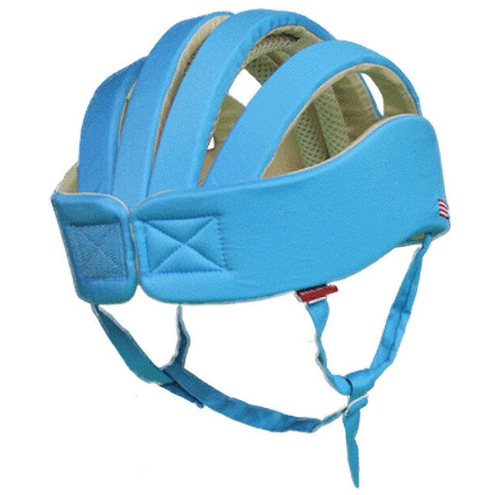 Huifen Baby Children Infant Toddler Adjustable Safety Helmet Headguard Protective Harnesses Cap Blue, Providing Safer Environment When Learning to Crawl Walk Playing Baby Infant Blue Hat (Blue) by Huifen (Image #5)