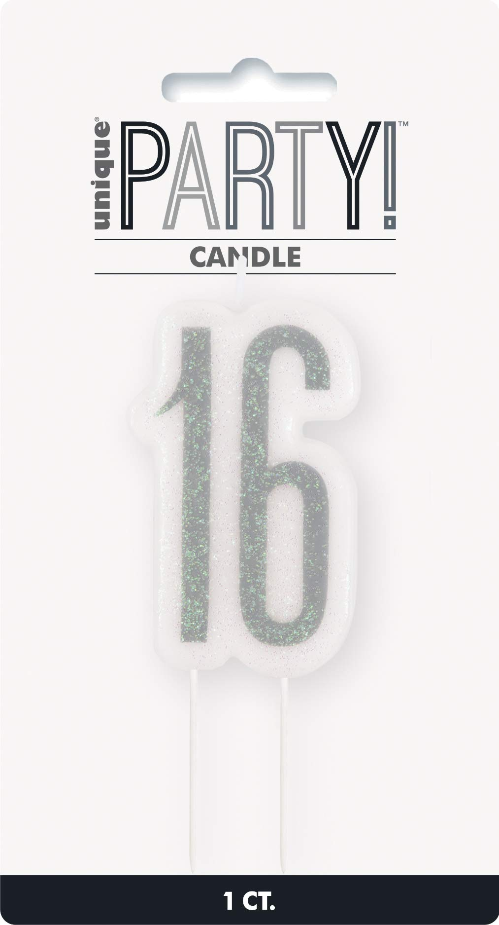16 Candle BLING Party Decorations and Tableware for 16th Birthday in Blue Glitz Sparkle