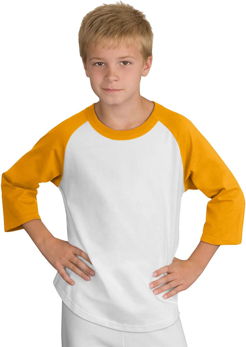 Sport-Tek Youth Colorblock Raglan Jersey.