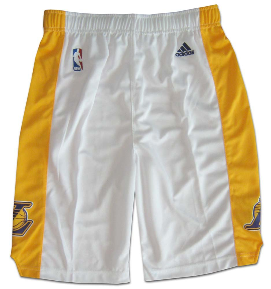 NBA Los Angeles Lakers Youth Boys 8-20 Replica Alternate Shorts, Large (14/16), White 28EUK LA