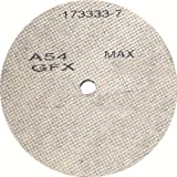 United Abrasives-SAIT 29207 4-1/2 by 1/4 by 7/8 A36 UA-GFX Cotton Fiber Wheel, 10-Pack