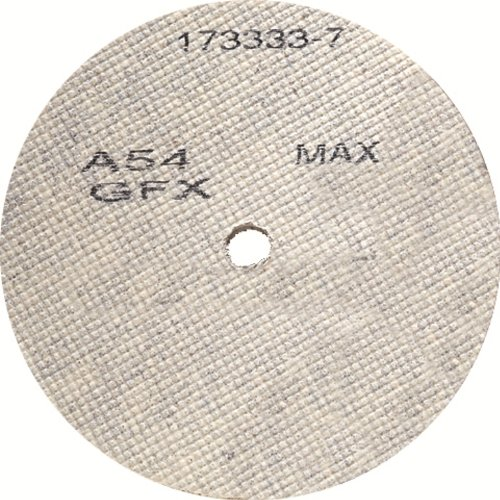United Abrasives/SAIT 29207 4-1/2 by 1/4 by 7/8 A36 UA-GFX Cotton Fiber Wheel, 10-Pack