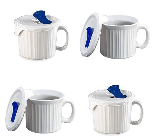Corningware Pop en taza, 4 tazas con tapas de plástico de ...