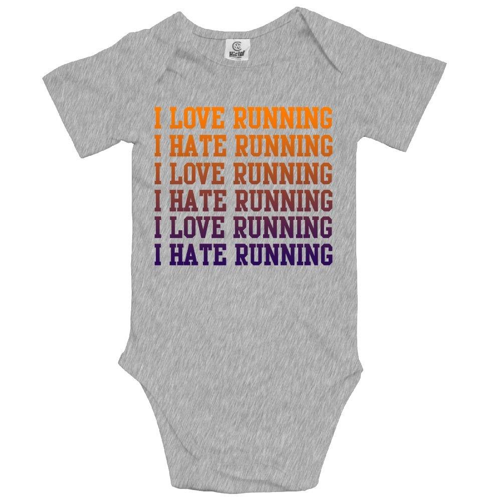 Haibaba I Love Running Infant Climbing Short-Sleeve Jumpsuit