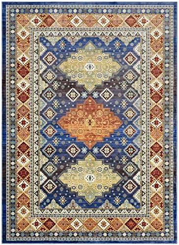 Modway Atzi Distressed Southwestern Diamond Floral Area Rug, 8×10, Multicolored
