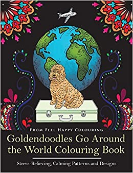 Amazon Goldendoodles Go Around The World Colouring Book Goldendoodle Coloring