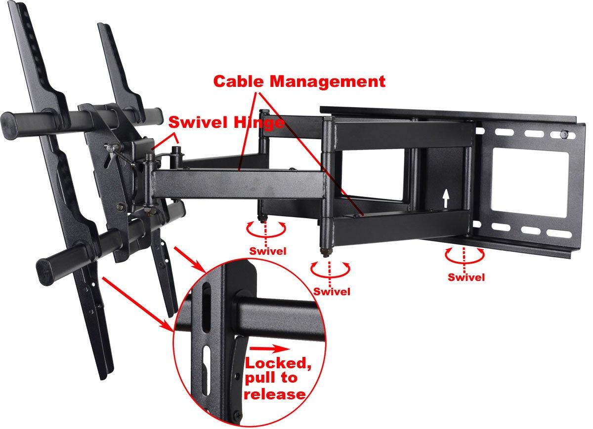 Amazon.com: VideoSecu Articulating TV Wall Mount Bracket for Panasonic  TC-P42X60 TC - Videosecu Articulating Full Motion Tv Wall Mount Cymun Designs
