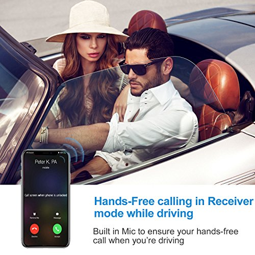 Bluetooth 4.2 Receiver Adapter/Car Kit,Csr aptX Low Latency,Kroaprao Wireless Bluetooth 3.5mm AUX and RCA HiFi Audio Receiver Devices 300mAh (10Hrs,NFC,Hands-Free Calling) for Home Stereo System by KROA PRAO (Image #4)
