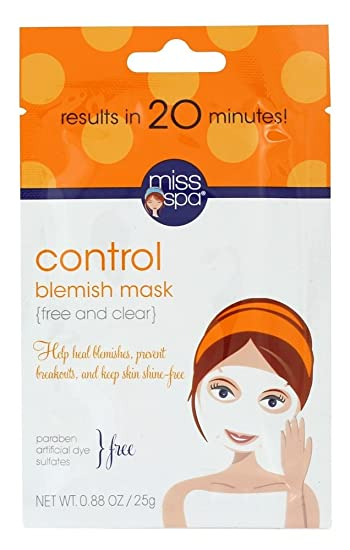 Miss Spa, Control, Blemish Mask, 1 Mask(pack of 6) 3 Pack - Neutrogena Ageless Intensives Deep Wrinkle Moisture SPF 20 1.4oz Each