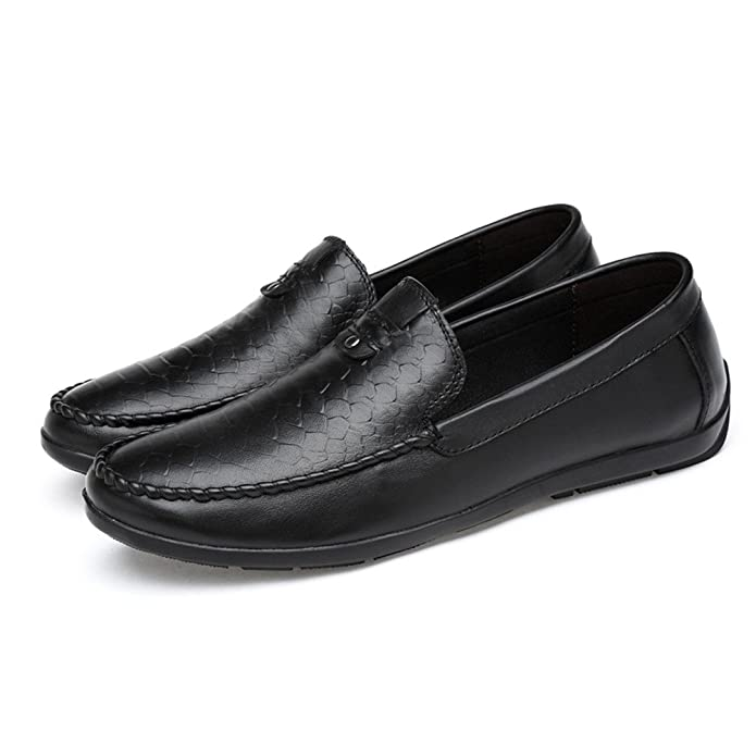 Amazon.com | Spring Autumn Men Loafers Casual Shoes Genuine Leather Moccasins Men Driving Man Flats Plus Size 36-47 Black | Loafers & Slip-Ons