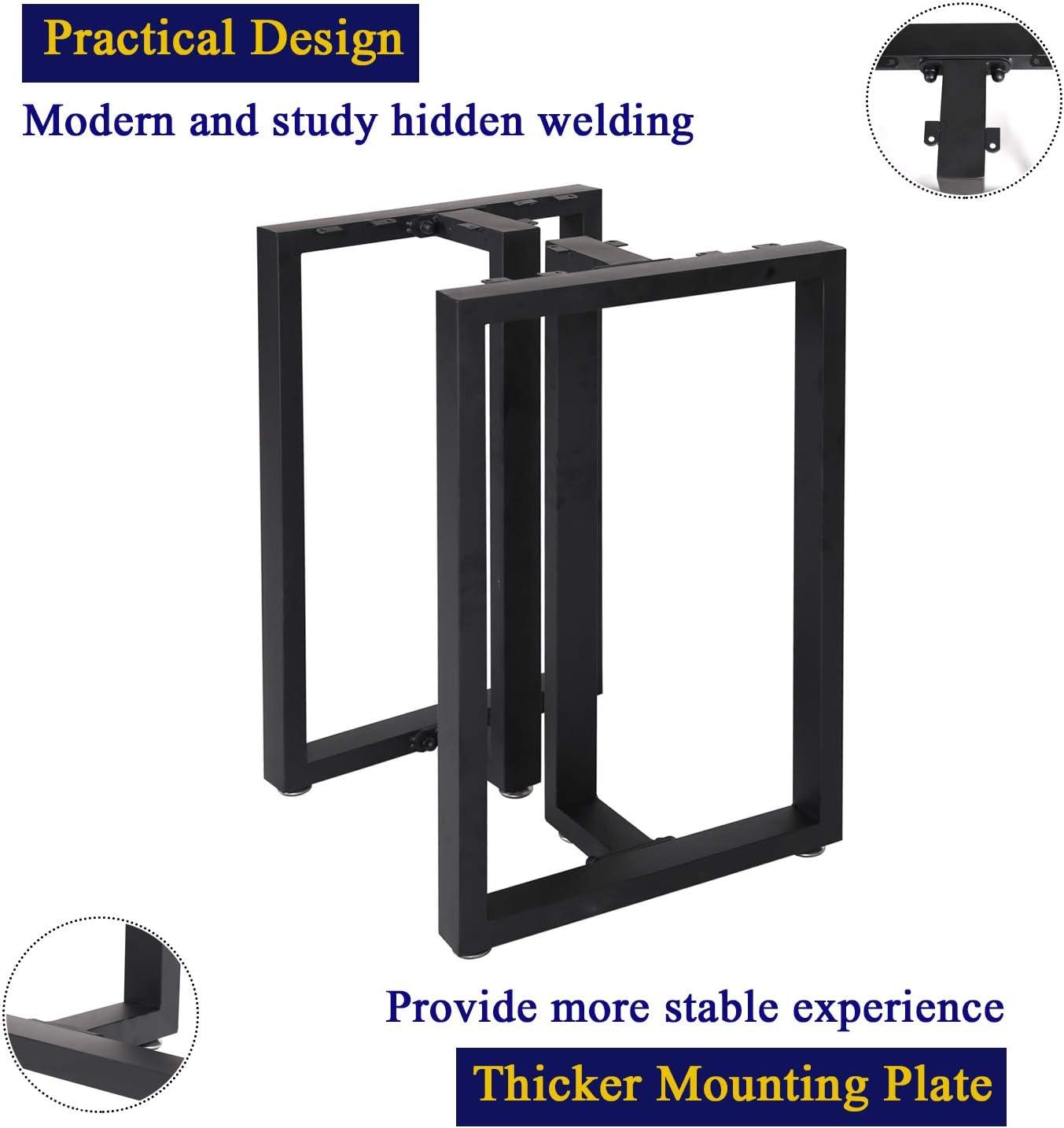 Table leg iron design 2 X Iron Table Legs 3 Finishes Trapeze sez.10x2//3 001
