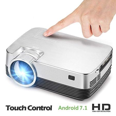 C-TK Proyector portátil HD 1080p LED, conexión WiFi de bajo Ruido ...