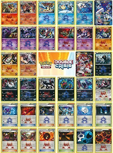 34 Card Double Crisis COMPLETE Set - Including Kyogre EX and Groudon EX Full Arts!
