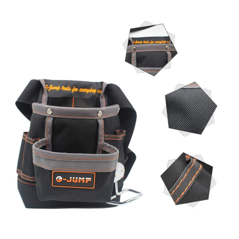 Negro Cintur/ón de herramientas Herramientas Bolsa para herramientas de Oxford 6/compartimentos con ri/ñonera ajustable