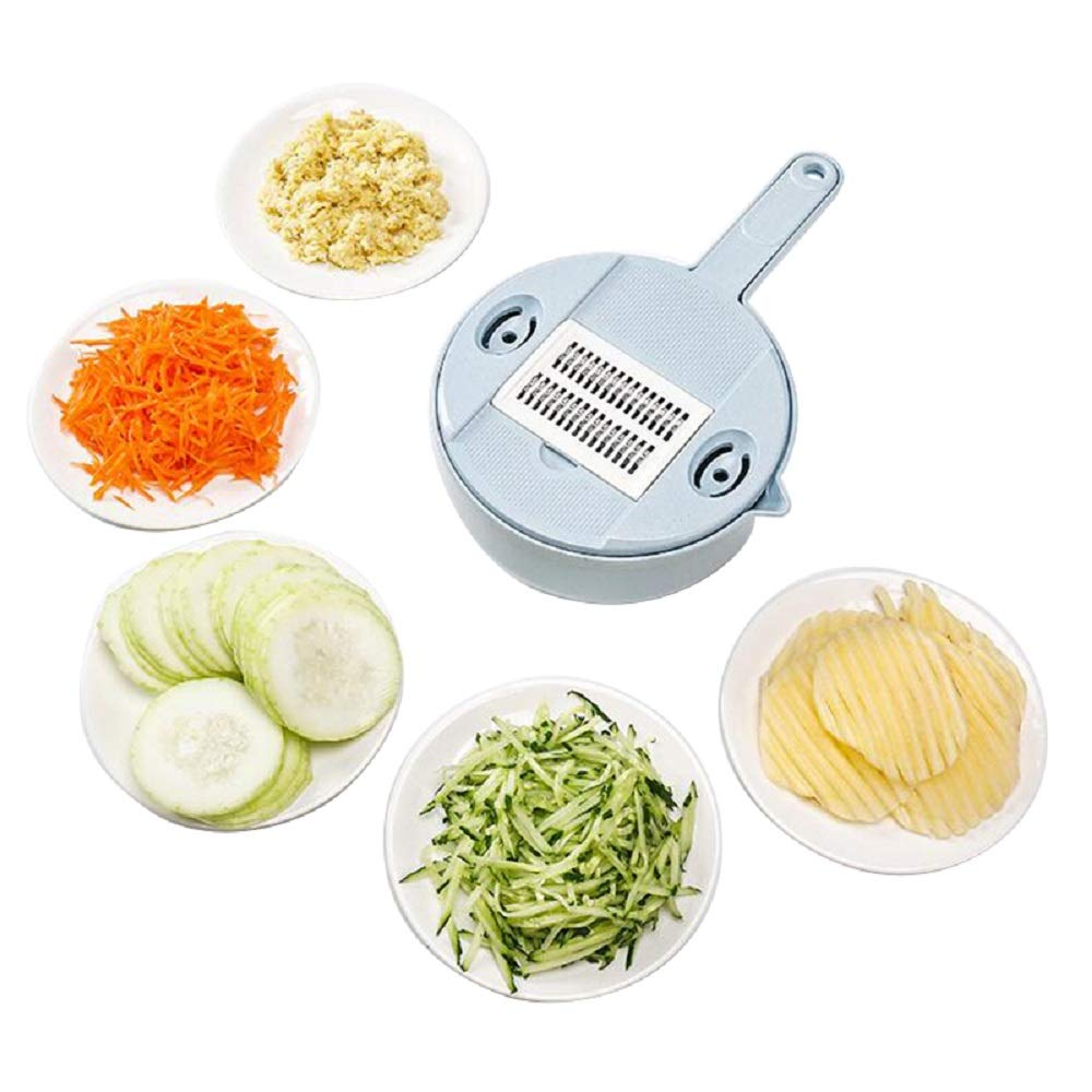 Round Multi-Function Vegetable Cutter and Slicer Kitchen Gadgets Accessories Potato Cucumber Shredders by Carejoy