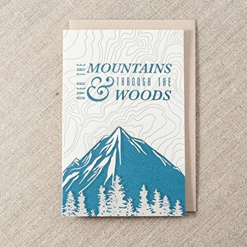 Amazon over the mountains topographic pacific northwest over the mountains topographic pacific northwest letterpress greeting card m4hsunfo