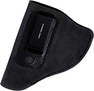 product image for CCW Tactical IWB Leather Holster for J Frame Revolvers Made of Genuine Suede for Ultimate Concealed Carry Comfort, RH or LH Draw for Men or Women, Choose Style and Color