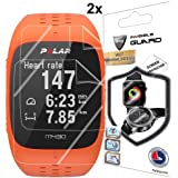 for Polar M430 Fitness Tracker Watch Screen Protector (2 Units) Invisible Ultra HD Clear Film Anti Scratch Skin Guard - Smooth/Self-Healing/Bubble -Free by IPG
