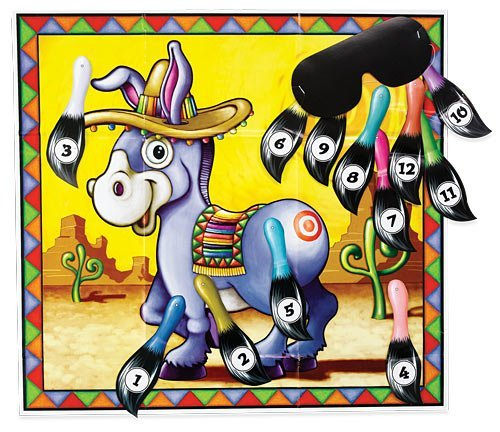 Donkey Game (mask & 12 tails included) Party Accessory  (1 count) (Donkey Party Game)