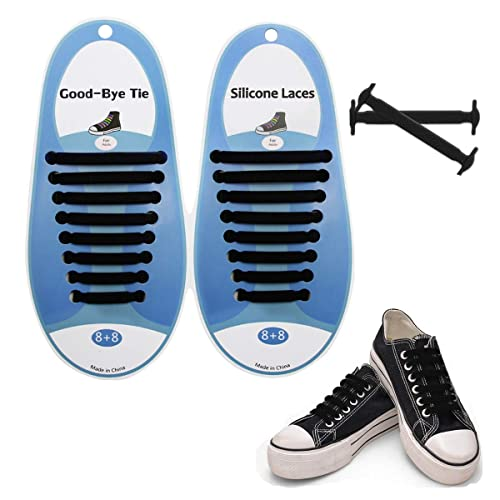 941b296edf751 No Tie Shoelaces for Kids and Adults - Silicone shoelaces to replace your  shoe strings (Multiple colors available)