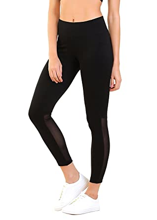 953cbdae3df5a BLINKIN Mesh Yoga Gym and Active Sports Fitness Black Polyester Leggings  Tights for Women|Girls(4002): Amazon.in: Clothing & Accessories