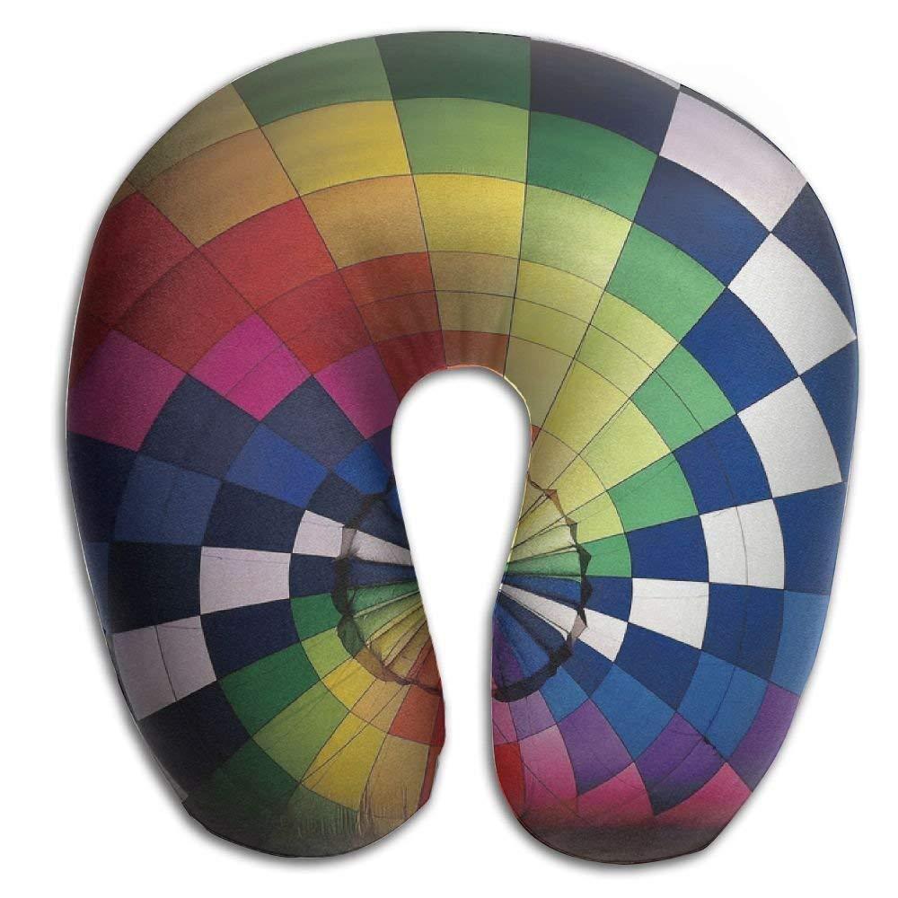 ruishandianqi Nackenhörnchen Rainbow Hot Air Balloon Neck Pillow Creative U Type for Travel Camping Cervical Pillows with Resilient Material Seitenschläferkissen
