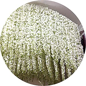 be-my-guest 120cm Long Wisteria Vine Rattan Flowers for Wedding Arch Party Decoration White Vine Artificial Flowers Flores Garland Wreath 10