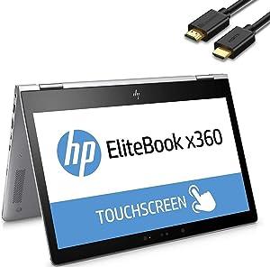 "HP EliteBook X360 830 G6 2-in-1 13.3"" IPS FHD 1080p Multi-Touch Business Laptop (Intel Quad-Core i7-8665U, 16GB RAM, 512GB SSD) Backlit, Wi-Fi 6, Thunderbolt, Windows 10 Pro + IST Computers HDMI Cable"
