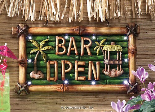Tiki Bar Open Lighted Sign Wall Decor by Winston Brands