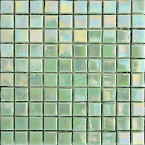 Iridescent Mosaic Sheet - Arctic Green