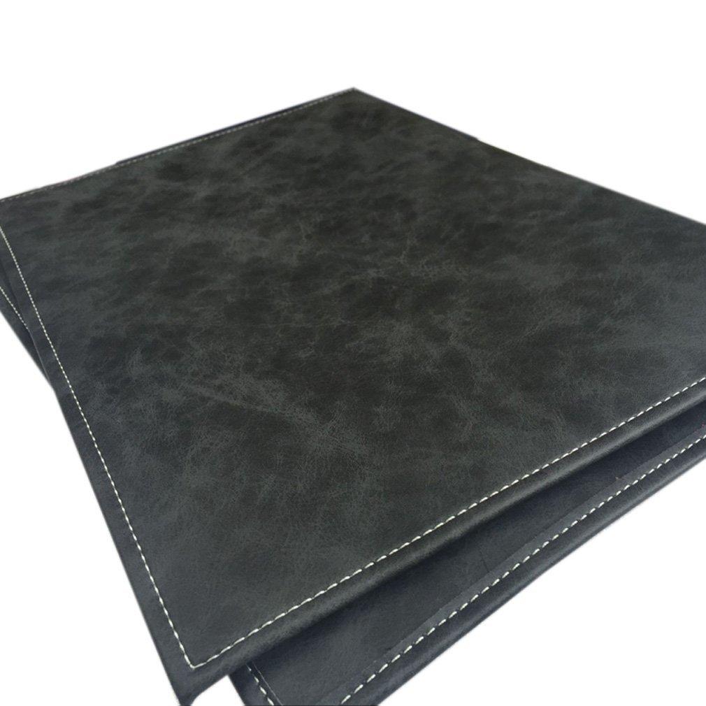 Unisexe en cuir v/éritable fait /à la main livre Wrapper ordinateur portable Coque A5/fichiers Portfolio bloc-notes fichier Bloc desquisse Retro Vintage Hbz05 a4 marron