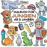 Malbuch Jungen ab 3 Jahren: Großer Malspaß im Quadrat
