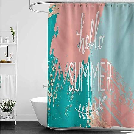 home1love - Cortinas para mampara de Ducha, diseño con Texto en inglés Hello in Different Languages: Amazon.es: Hogar