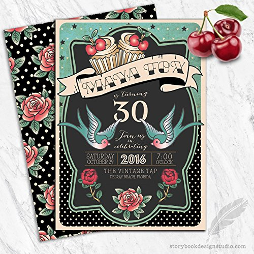 Rockabilly Birthday Invitations (Rockabilly Birthday Party Invitations (Set of 10))