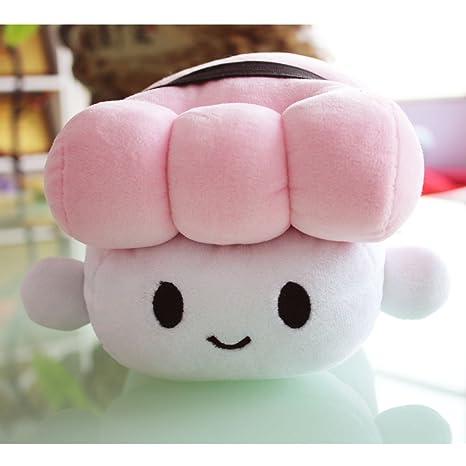 Missley Comida Japonesa Almohada Sushi Cute Cojín Plush Toy almohada encantadora Para Dormir Decoración (rosado)
