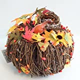 Grapevine Pumpkin Decoration - Thanksgiving & Fall Decoration - LRI Harvest