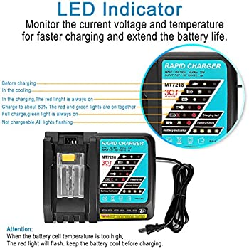 Powilling Dc18rc Li-ion Battery Charger With Led Screen For Makita 14.4v-18v Lithium-ion Battery Bl1830 Bl1840 Bl1850 Bl1815 4